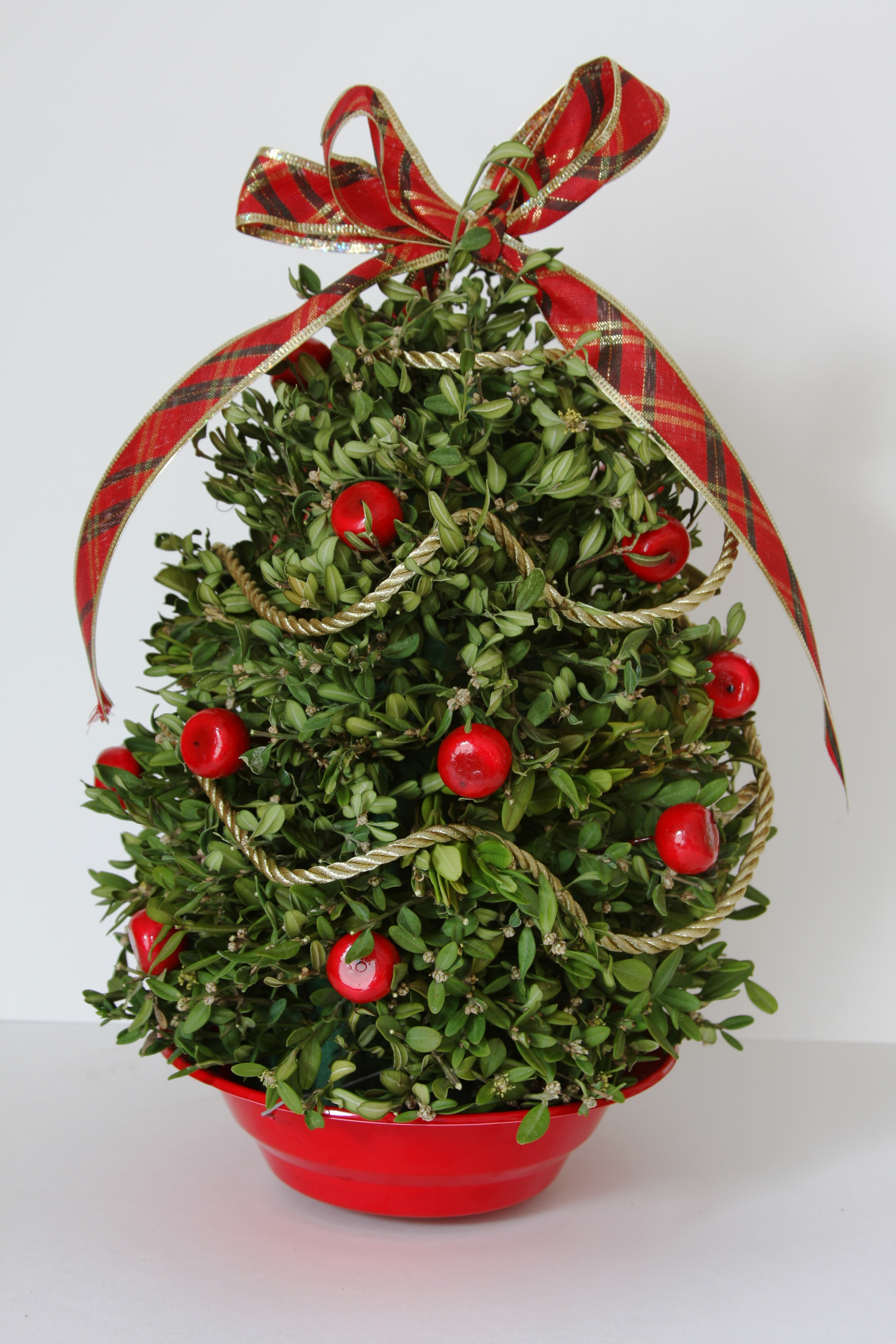Boxwood Tabletop Christmas Tree